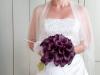 Bruidsboeket paarse Calla's